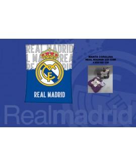MANTA PLAID R.MADRID-CORAL