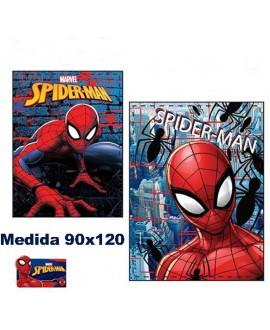 MANTA PLAID TEJIDOS EL MUNDO SPIDERMAN