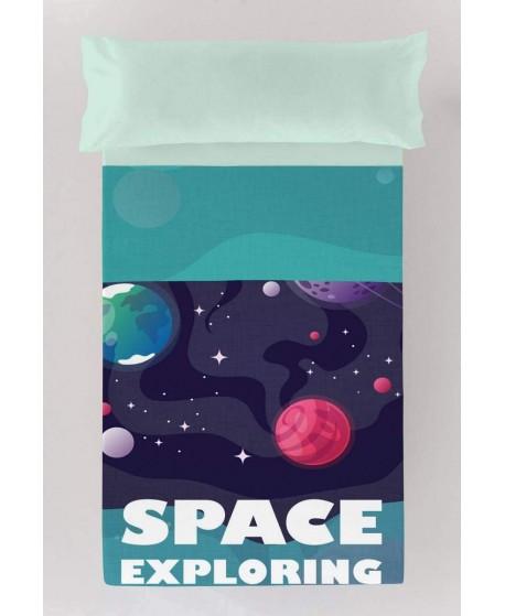 JUEGO DE SÁBANAS TEJIDOS EL MUNDO SPACE